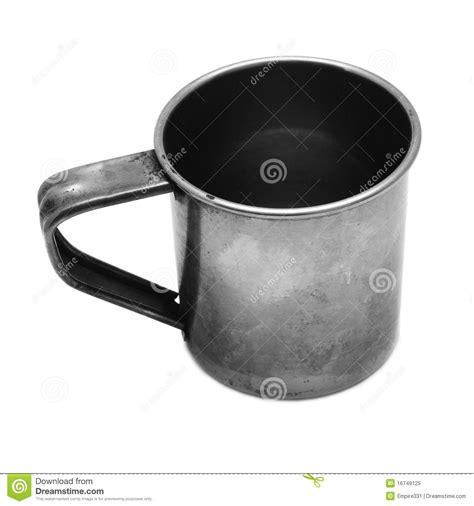 tin cup tin cup stock image image of drink beverages light