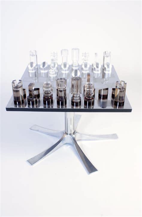 Table Basse échiquier galerie alexandre guillemain artefact design table