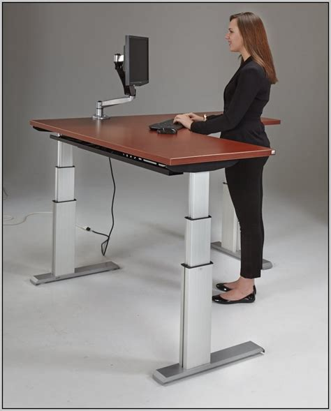 standing desk adjustable ikea desk home design ideas
