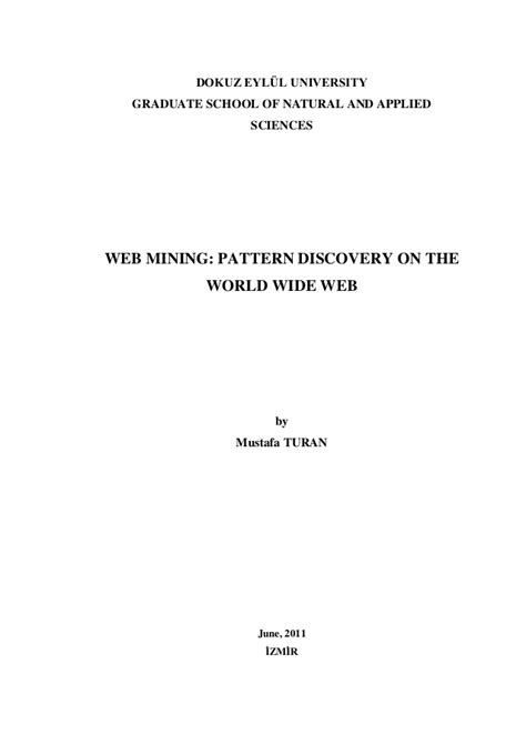 pattern discovery in web usage mining web mining pattern discovery on the world wide web 2011