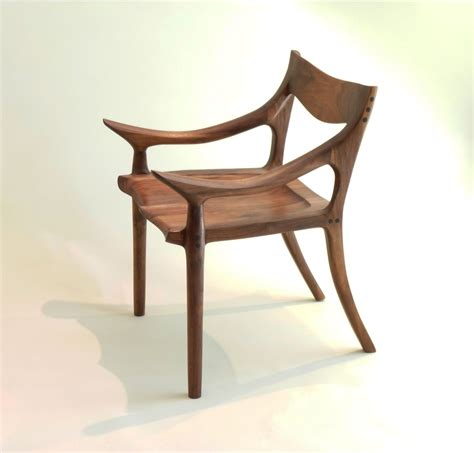 Custom Made Sam Maloof Style Lowback Chair by J. Blok