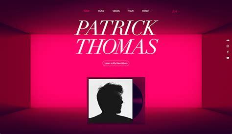 Music Website Templates Wix Dj Website Design Templates