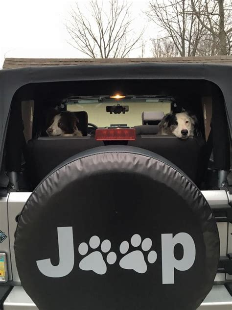 jeep tire cover jeep paws spare tire cover with the dogs in the jeep