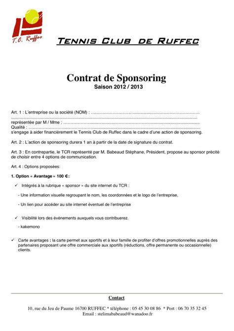 Exemple De Lettre Sponsoring visuel modele sponsoring gratuit