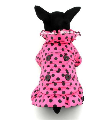 Jacket Black Cat Polka Hoodie Id 2008 petcondo small pet cat clothes warm fleece lined hoodie