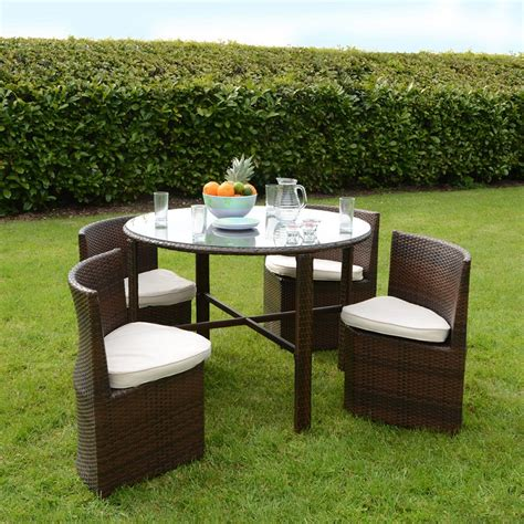 Summer Rattan Round Chair For Modern Outdoor Dining Set Modern Patio Dining Sets