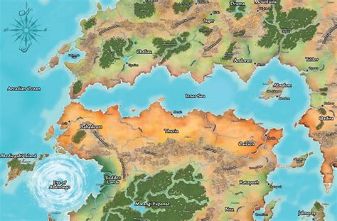 a brief geography of golarion pathfinder society