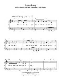 santa baby sheet music eartha kitt beginner piano 42532