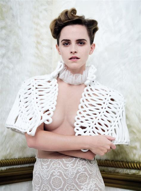 Vanity Fair Shoot People Are Angry Feminist Emma Watson Has Posed For A Braless Vanity Fair Photoshoot Metro News