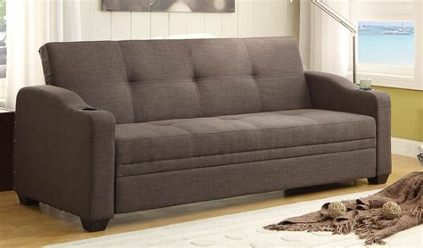 elegant sofa bed homelegance caffrey elegant lounger sofa bed dark grey