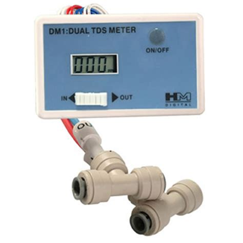 Tds Meter Digital Water Tester Alat Tes Air hm digital dm 1 inline dual tds monitor