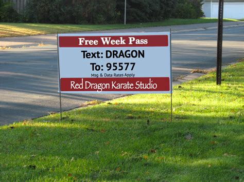 Backyard Signs by Using Yard Signs To Promote Gyms Martial Arts Businesses