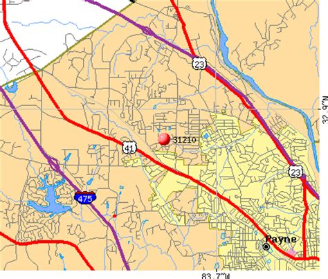 macon zip code map zip codes macon map