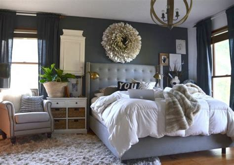 our wood white and gray bedroom