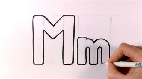 M Drawing Photo by How To Draw A Letter M And M
