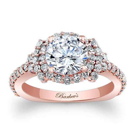 barkev s rose gold halo engagement ring 7979lp barkev s