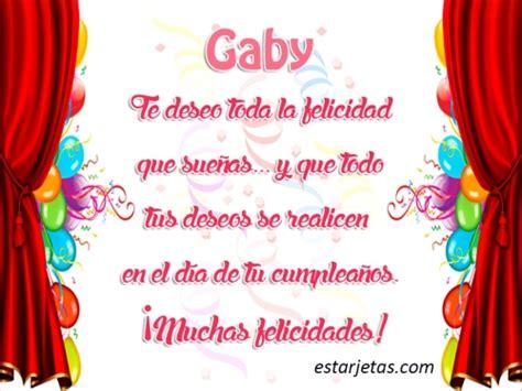 Imagenes Feliz Cumpleaños Gaby | feliz cumplea 241 os gaby im 225 genes de estarjetas com