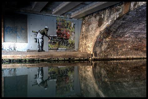 banksy graffiti wallpaper view large  black