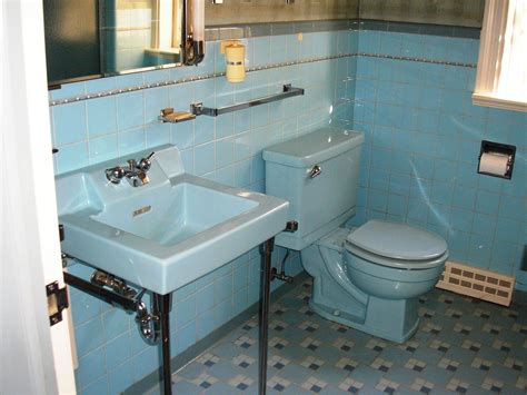Awesome Retro Blue Bathroom Sinks For Sale Bathroom Faucet
