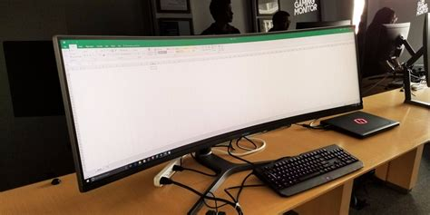 samsung just unveiled the widest computer monitor you buy here s how it looks in person