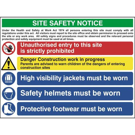 site safety template construction site safety sign with 1 prohibition 1