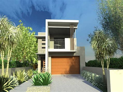 what does narrow lot modern house plan modern