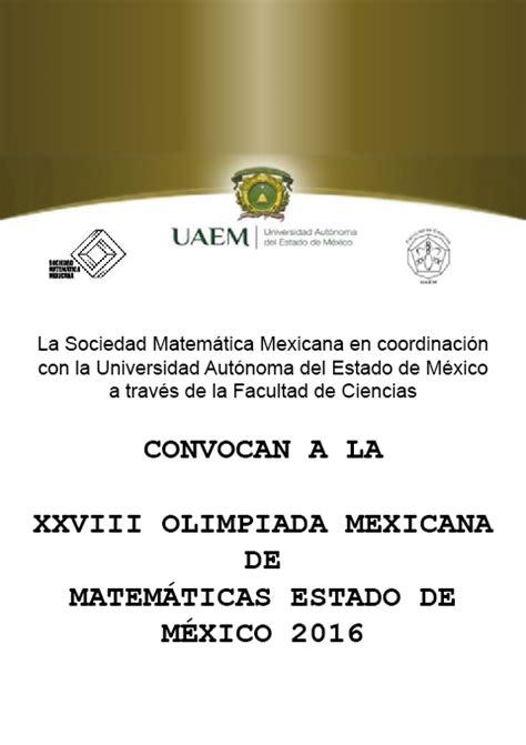 refrends 2016 estado de mxico olimpiada de matem 225 ticas estado de m 233 xico 2016