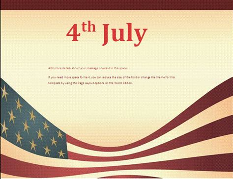 4th july flyer template free business templates