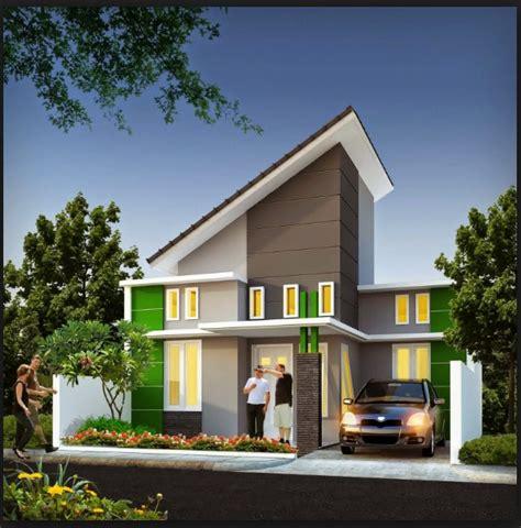 foto desain rumah minimalis atap miring rumah minimalis