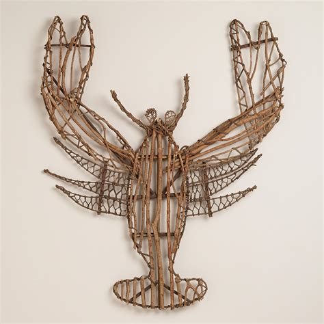 twig wall decor twig lobster wall decor world market