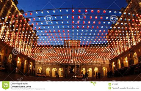 lighted turin for christmas royalty free stock photography