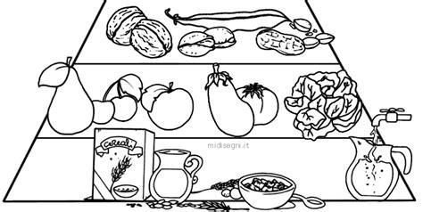 piramide alimentare da colorare disegni da colorare per bambini