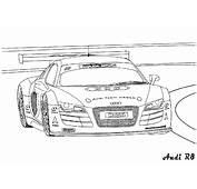 Coloriages De Bagnoles  Dessin &224 Colorier Audi R8