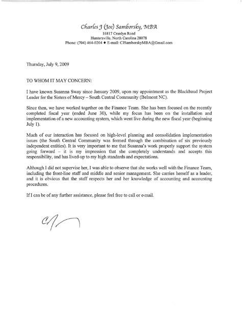 brandon s recommendation letter 2009 sle college