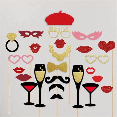 lips from wedding red black printable photo booth prop set 50 best images about photobooth props on pinterest