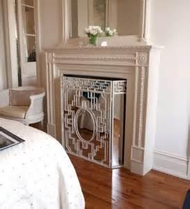 mirrored fireplace screen fireplace mirrors