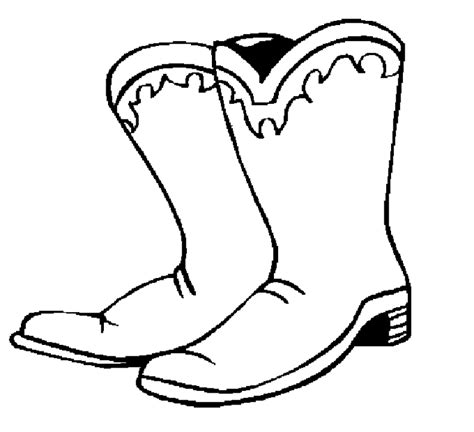 Cowboy Boots Coloring Pages free printable cowboy coloring pages for