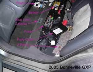 Pontiac Bonneville Battery 2003 Pontiac Bonneville Battery Location Questions With