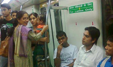 men sitting on ladies seat in delhi metro goes viral on