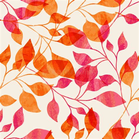 seamless nature pattern free watercolor seamless pattern with pink and orange autumn