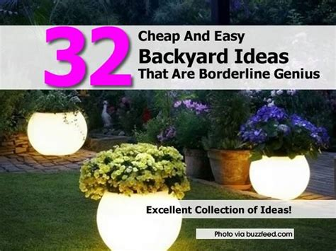 Cheap Diy Backyard Ideas 32 Cheap And Easy Backyard Ideas That Are Borderline Genius