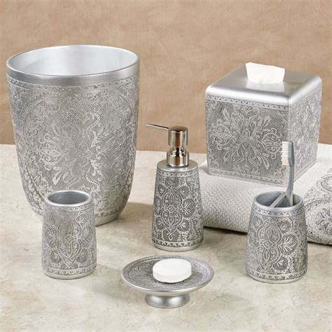 colette silver bath accessories by j queen new york
