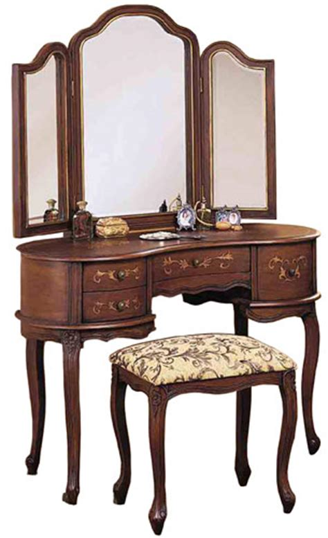 Powell Vanity by Powell Toscana Bedroom Vanity Set With Table Mirror And Bench