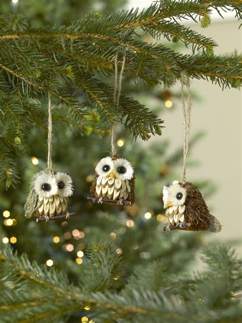 owl ornaments set of 3 for your tree or diy