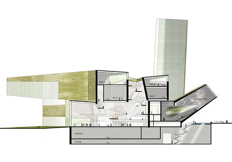 w section mus 201 e des confluences steven holl architects