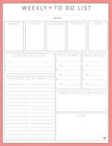 Weekly To Do Calendar Template by Weekly Calendar To Do List Template To Do List Template