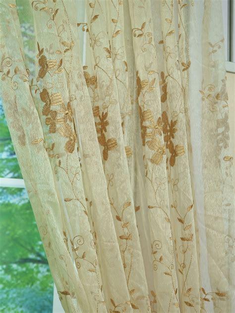 vine curtains elbert vine leaves pattern embroidered back tab white