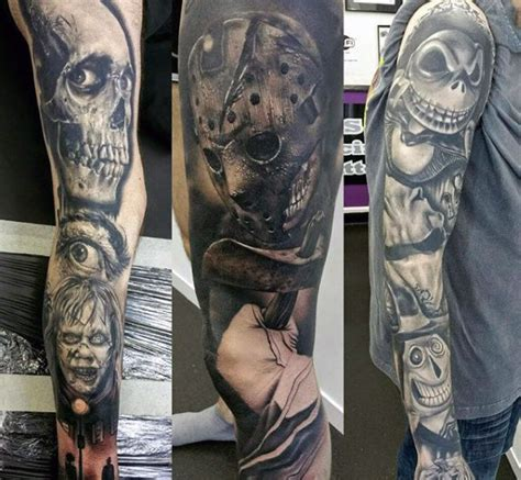 halloween sleeve tattoo designs 80 designs for ghoulish grandeur