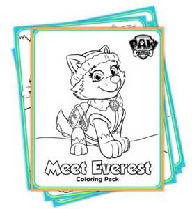 everest paw patrol coloring pages paw patrol everest coloring pages quot deal quot icious