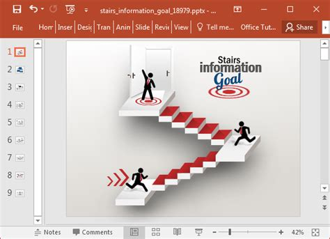 Graphic Design Home Business Ideas Animated Stairway Powerpoint Template